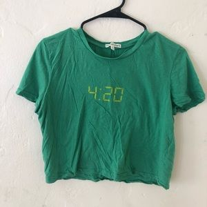 Urban Outfitter 420 crop T-shirt